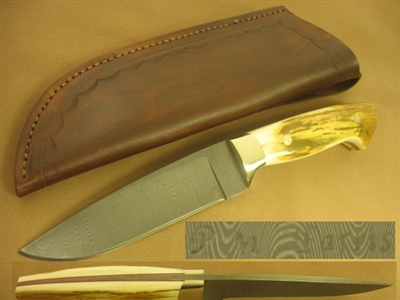P.M. PARRIS Custom Fixed Blade Knife     SOLD
