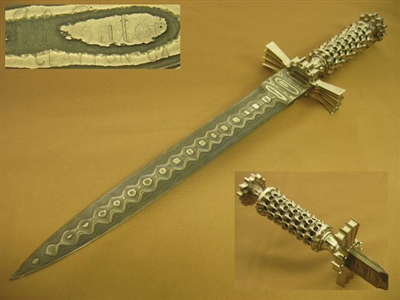 AL EATON Damascus Dagger Sword.     SOLD