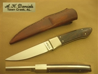 A. K. DANIELS HUNTING, FIGHTING KNIFE.     SOLD