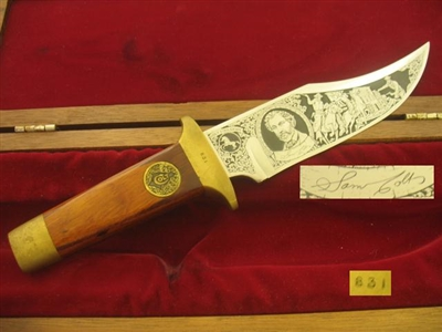 AURUM ETCHINGS BOWIE KNIFE