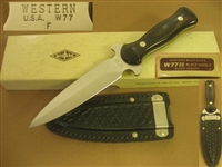 WESTERN BOOT KNIFE W77 DAGGER MINT IN BOX  SOLD