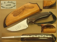 SELBURG HUNTING SKINNING KNIFE WITH FANCY SHEATH      SOLD