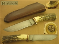 HAWES HANDFORGED STAG HANDLE HUNTING KNIFE PRICE REDUCED   SOLD