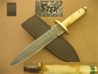 STEK HANDMADE DAMASCUS DAGGER, BOOT KNIFE   SOLD