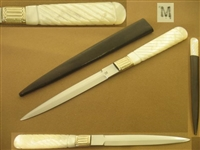 L MORROW MOTHER OF PEARL DAGGER, STILETTO  SOLD