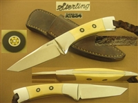 STERLING IVORY TANTO KNIFE    SOLD