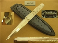 CLAUDE MONTJOY HANDMADE DAGGER, STILETTO, KNIFE   SOLD