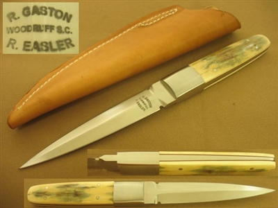 GASTON EASLER MAMMOTH IVORY DAGGER KNIFE  SOLD